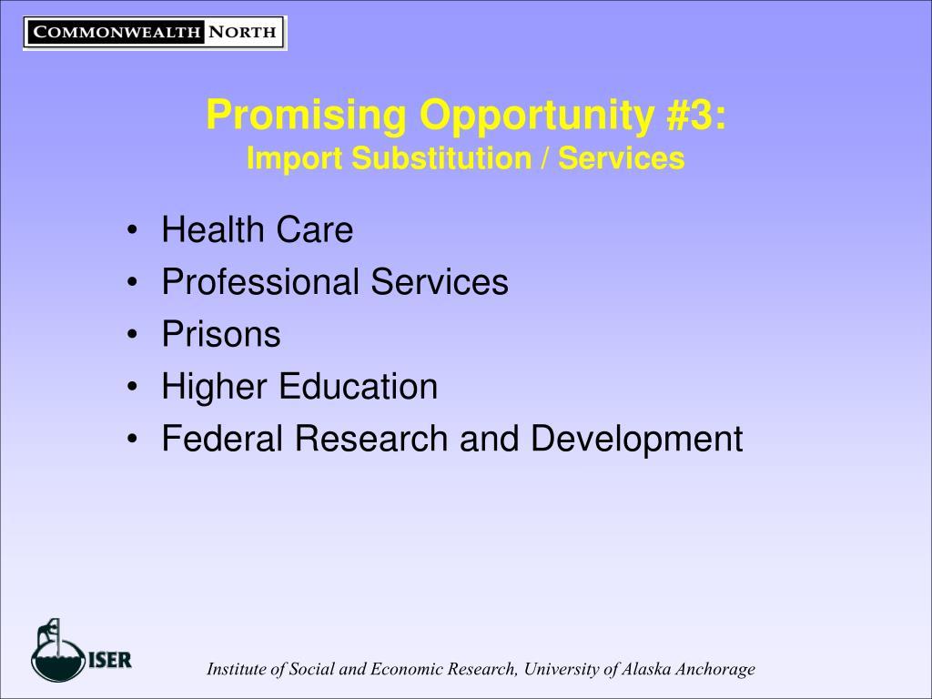 Promising Opportunity #3: