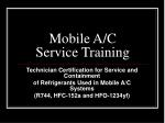 mobile a c service training