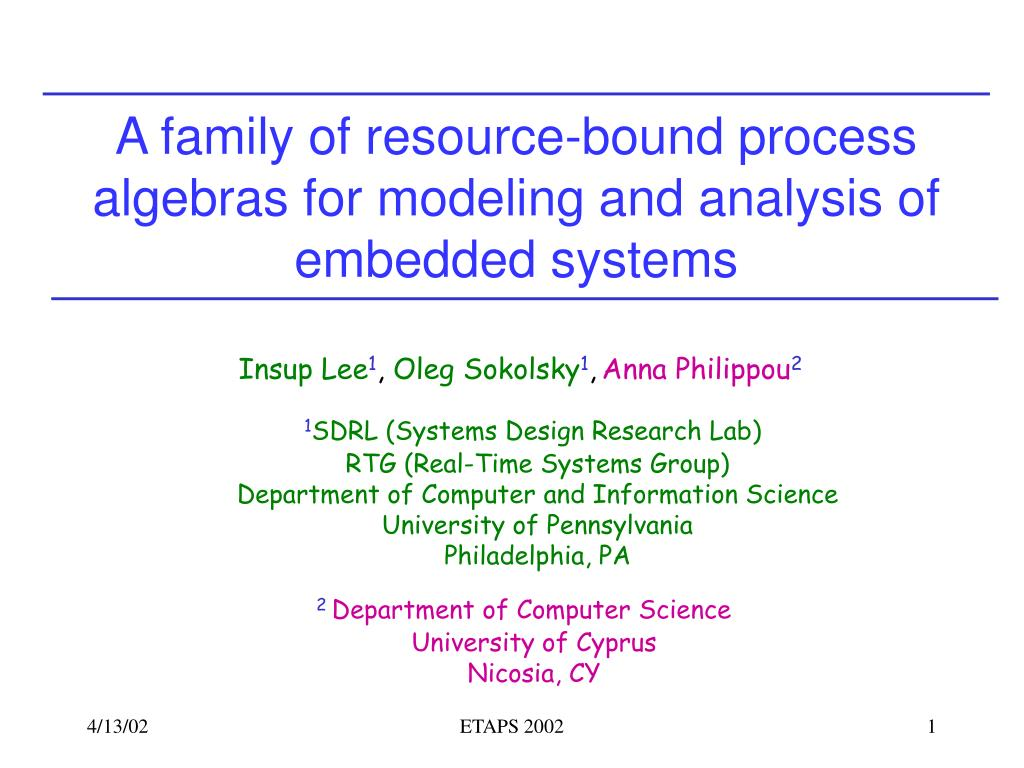 a family of resource bound process algebras for modeling and analysis of embedded systems