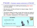 p 2 acsr a power aware extension of pacsr