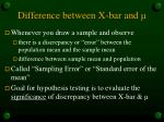 difference between x bar and