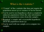 what is the t statistic