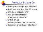 projector screen co