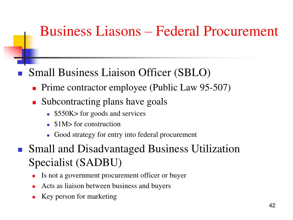 Business Liasons – Federal Procurement