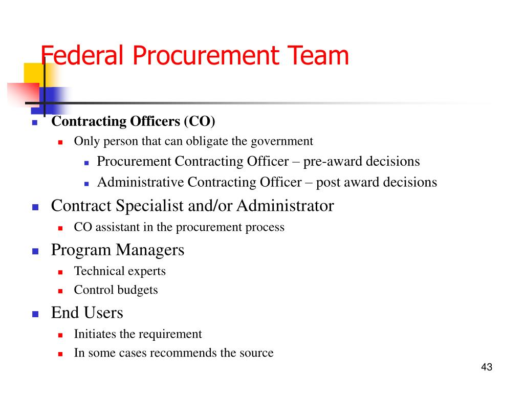 Federal Procurement Team