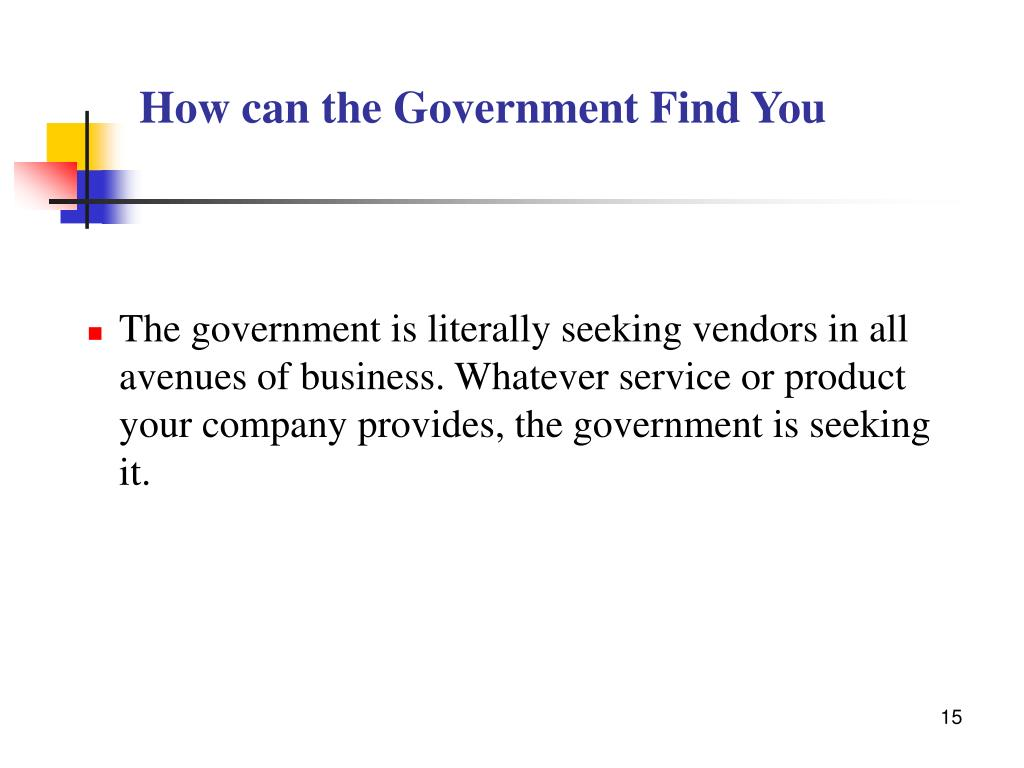 How can the Government Find You