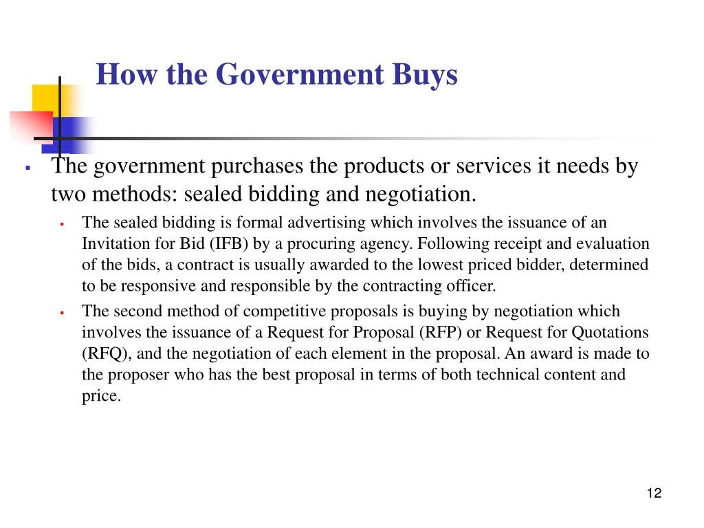 How the Government Buys