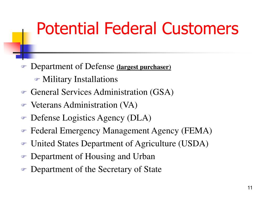 Potential Federal Customers