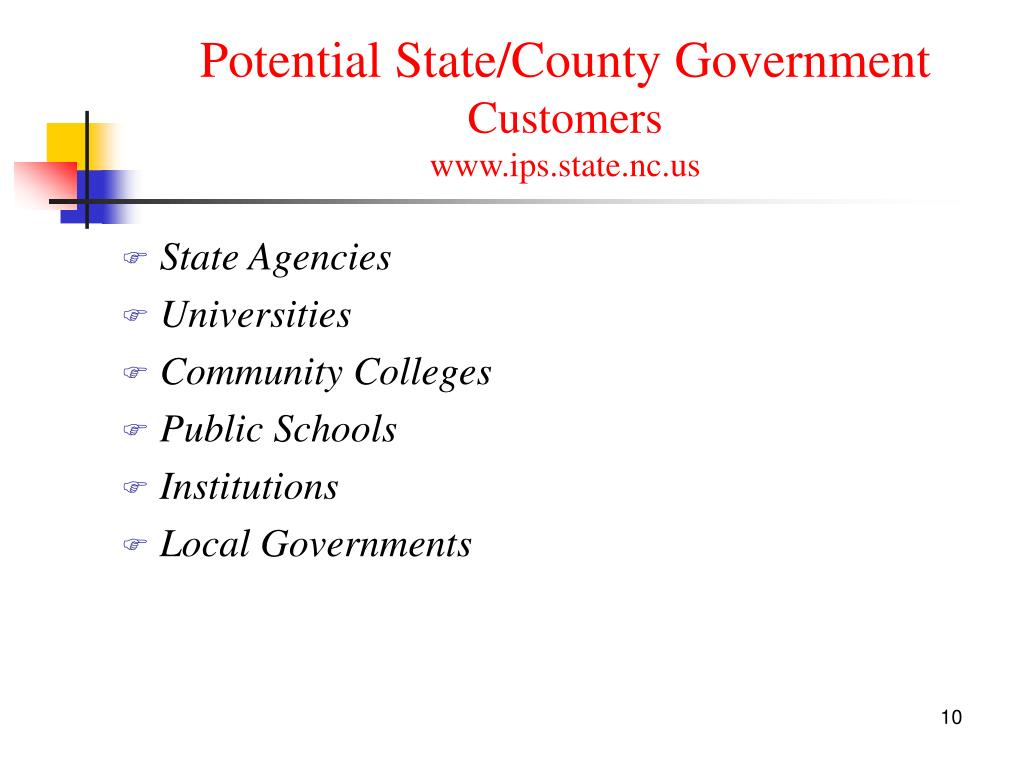 Potential State/County Government