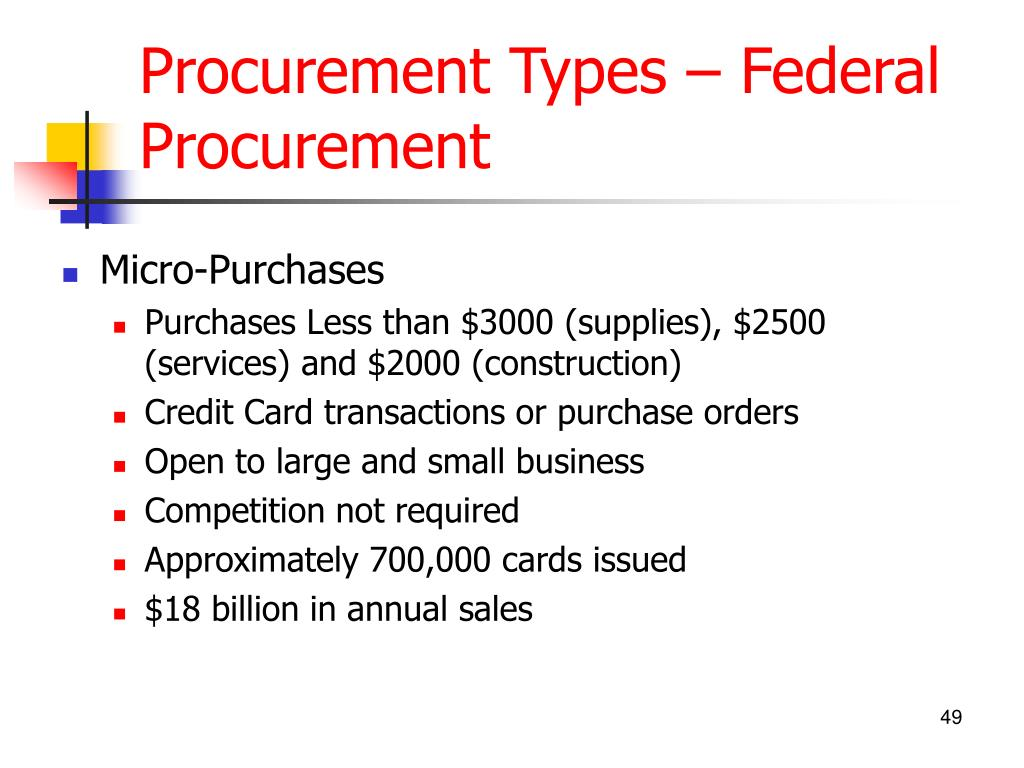 Procurement Types – Federal Procurement