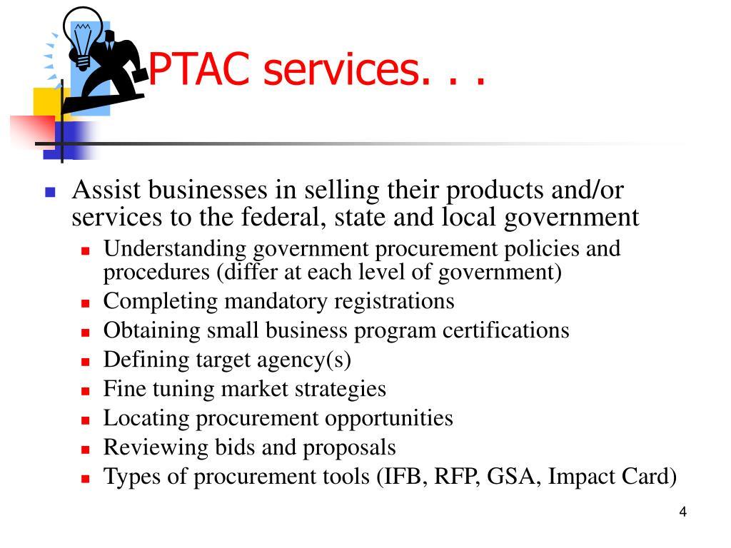 PTAC services. . .