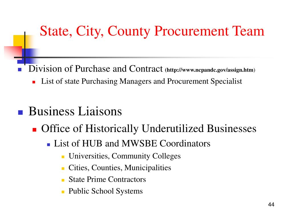 State, City, County Procurement Team