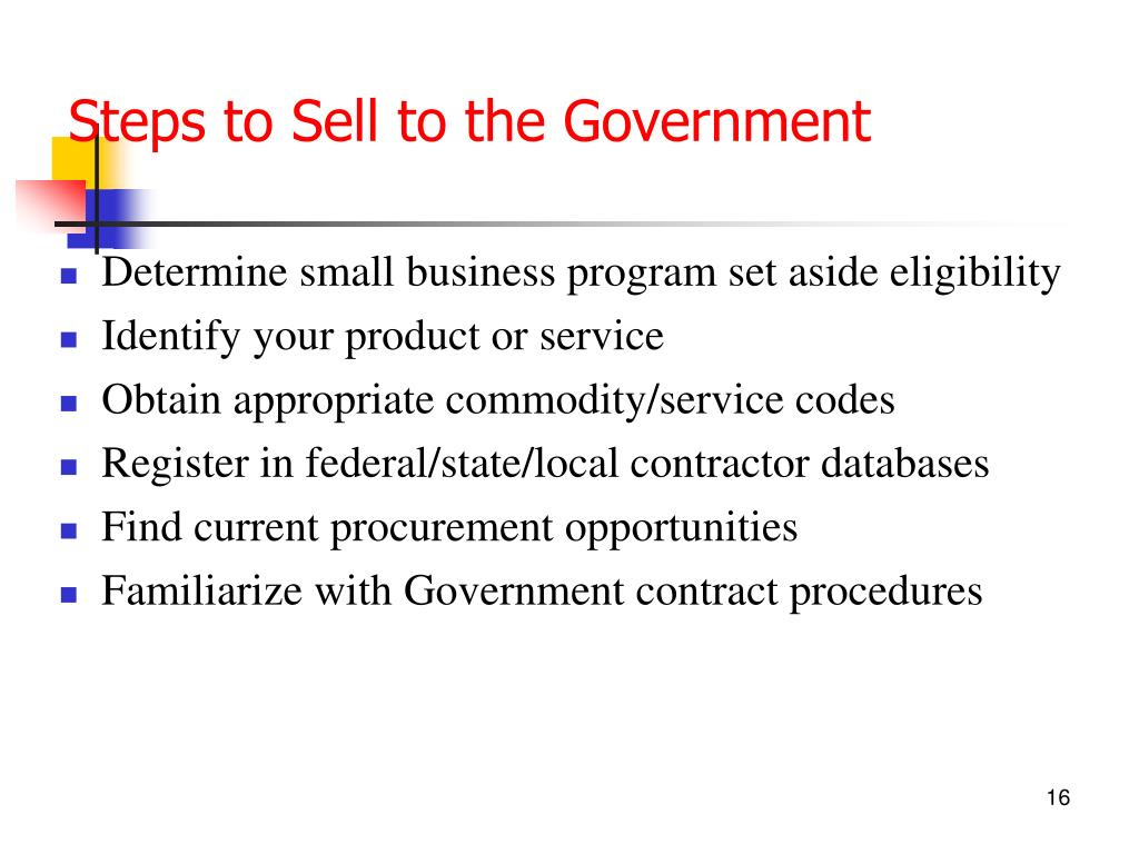 Steps to Sell to the Government