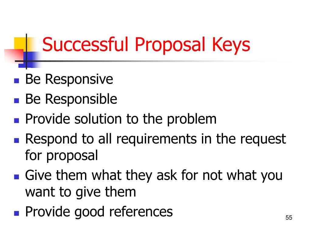 Successful Proposal Keys