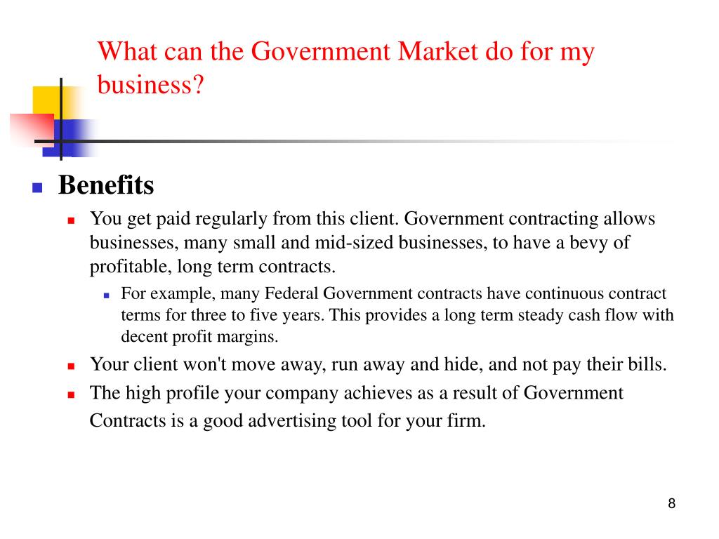 What can the Government Market do for my business?