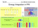 energy integration in pri