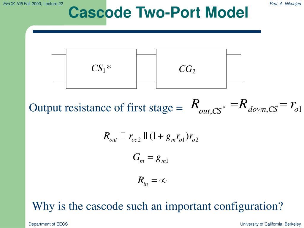 Cascode Two-Port Model