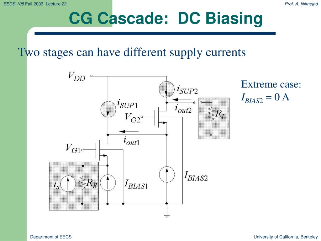 CG Cascade:  DC Biasing