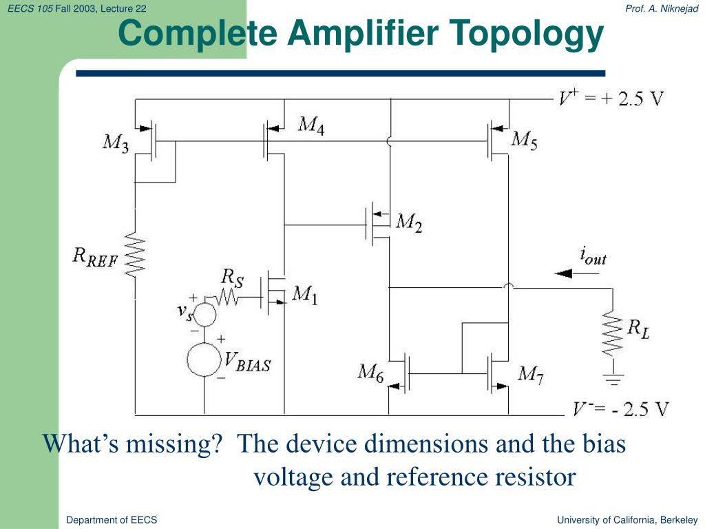 Complete Amplifier Topology