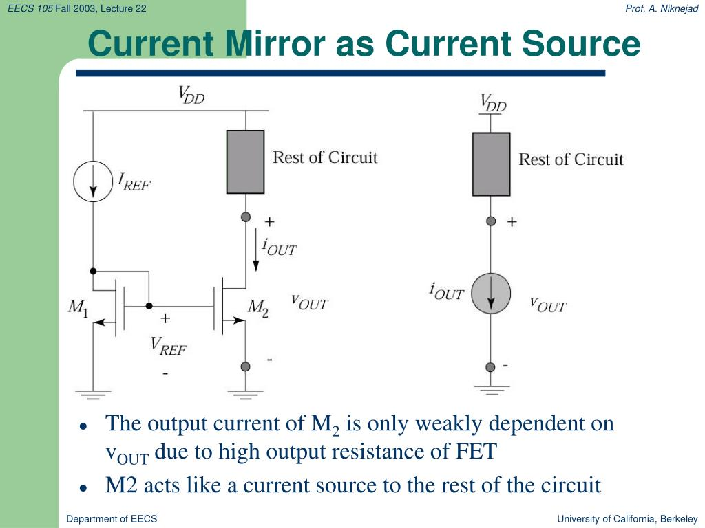Current Mirror as Current Source