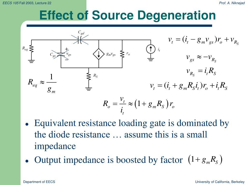 Effect of Source Degeneration