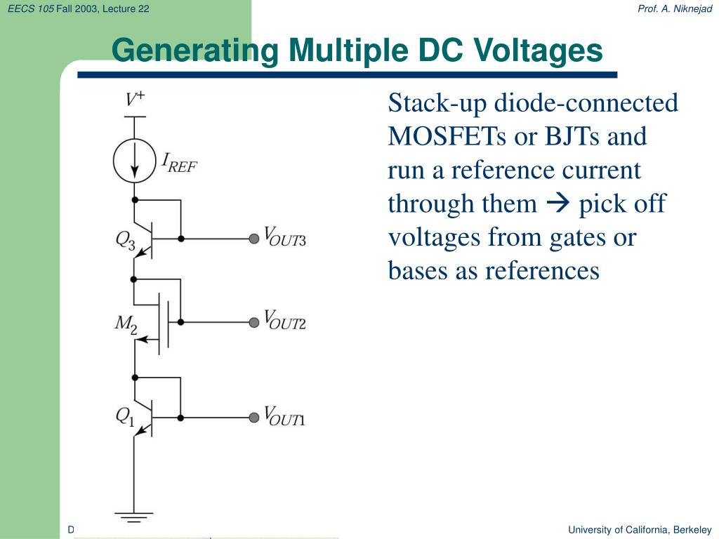 Generating Multiple DC Voltages