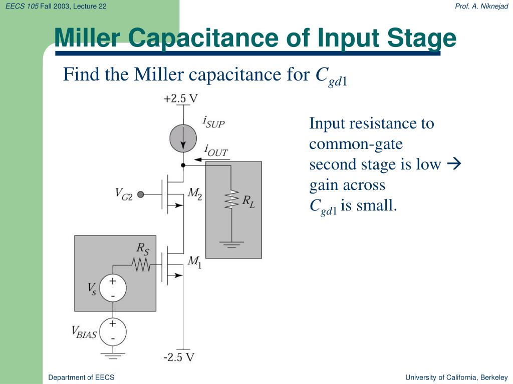 Miller Capacitance of Input Stage