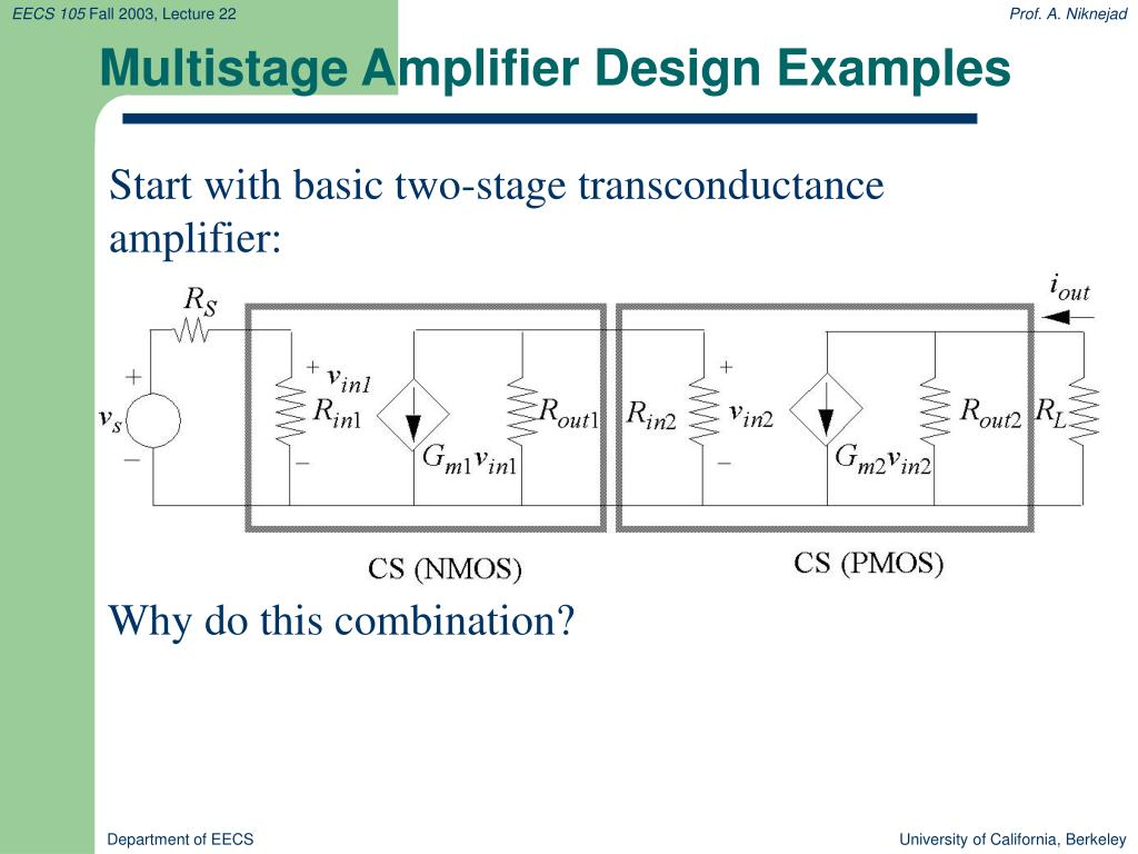 Multistage Amplifier Design Examples