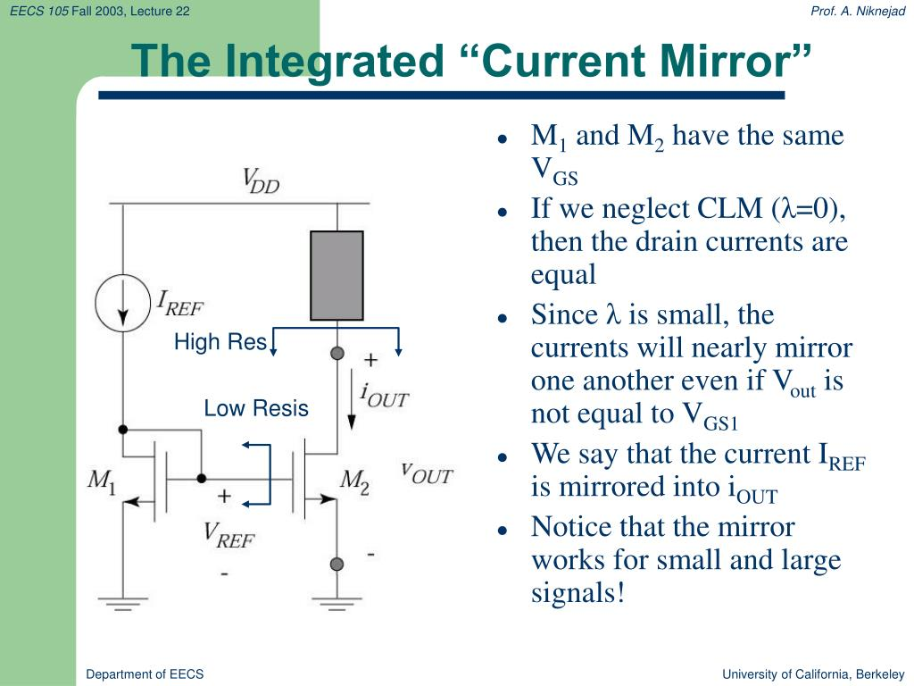 """The Integrated """"Current Mirror"""""""