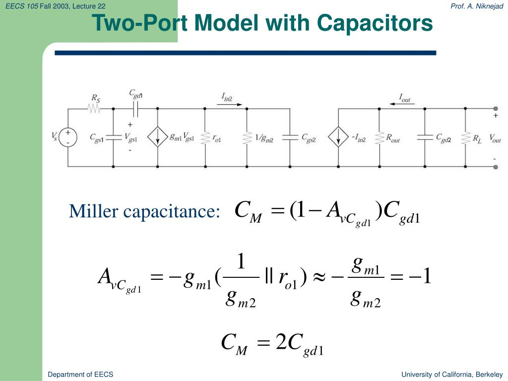 Two-Port Model with Capacitors