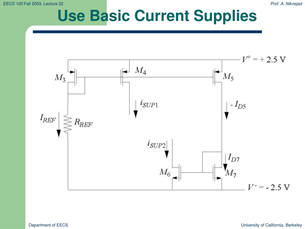 Use Basic Current Supplies