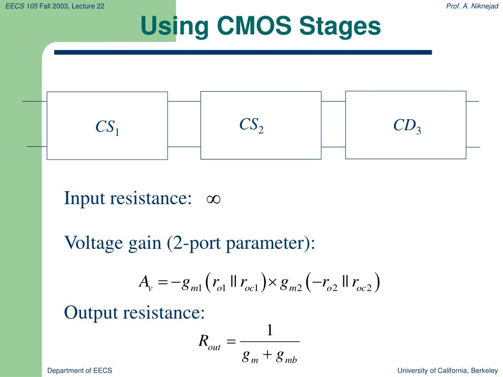 Using CMOS Stages