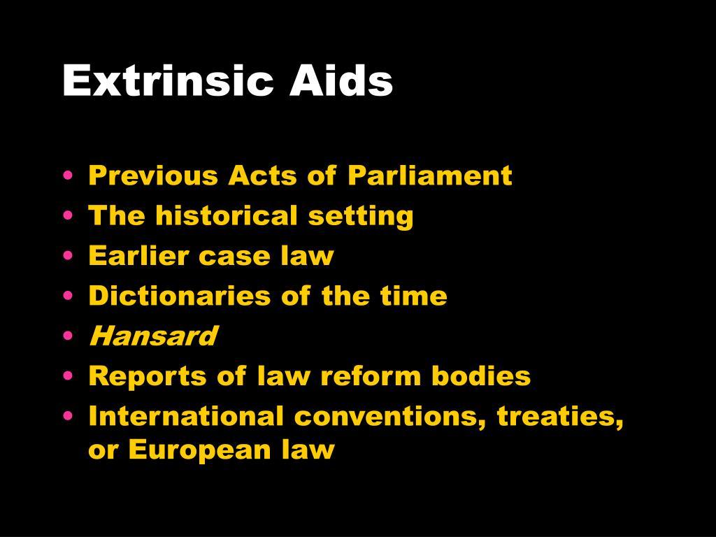 Extrinsic Aids