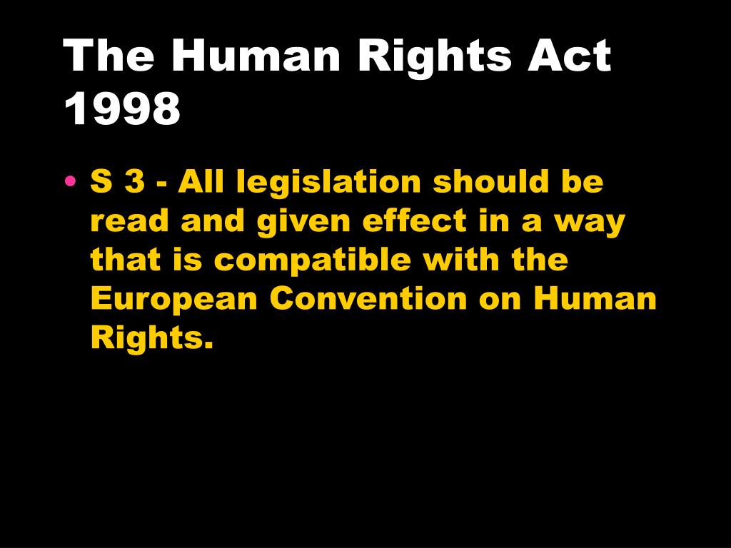 The Human Rights Act 1998
