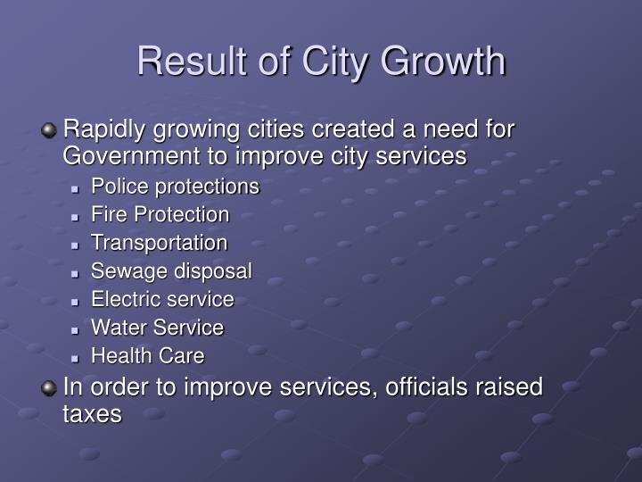 Result of City Growth