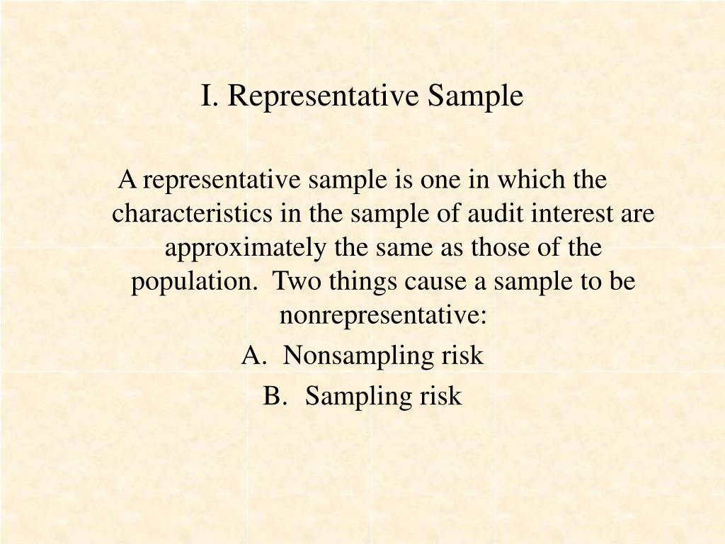 I. Representative Sample
