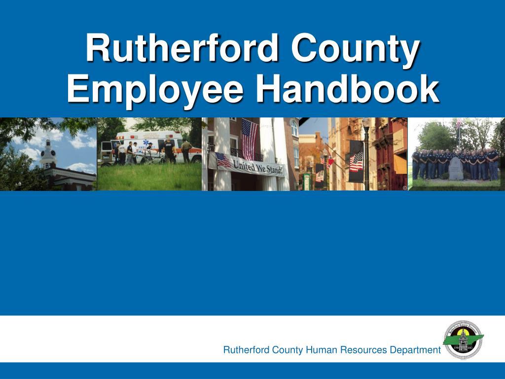 rutherford county employee handbook
