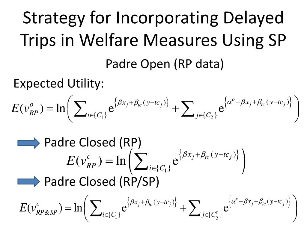 Strategy for Incorporating Delayed Trips in Welfare Measures Using SP
