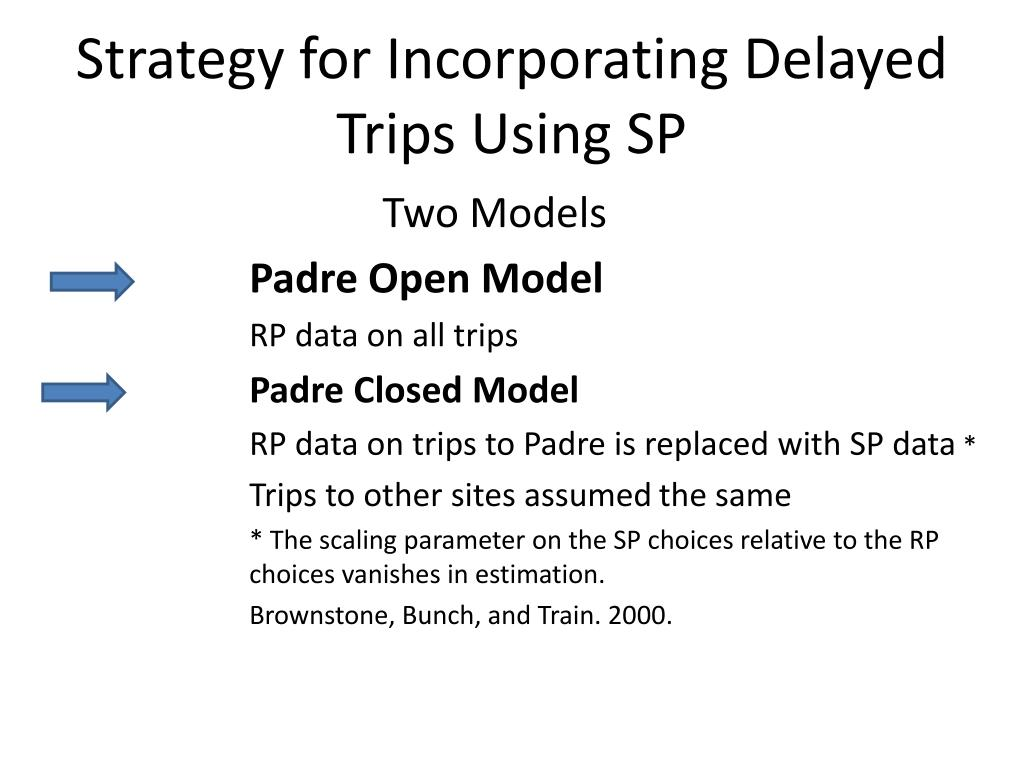 Strategy for Incorporating Delayed Trips Using SP