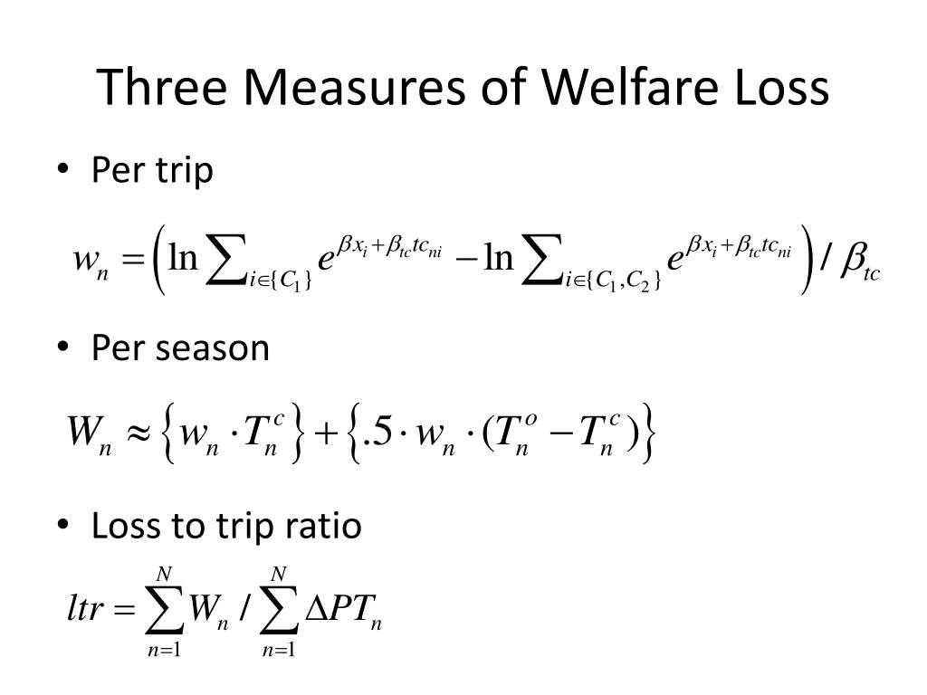 Three Measures of Welfare Loss