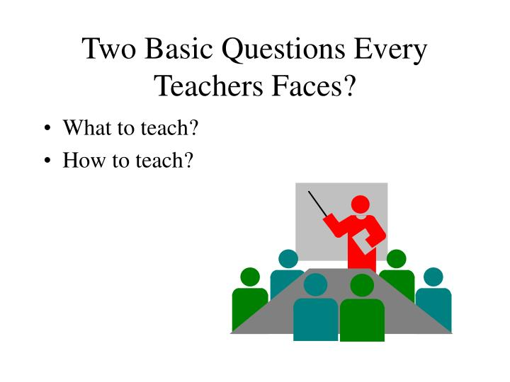 Two Basic Questions Every Teachers Faces?