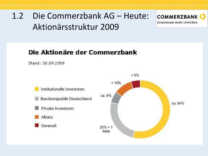 1.2Die Commerzbank AG – Heute: