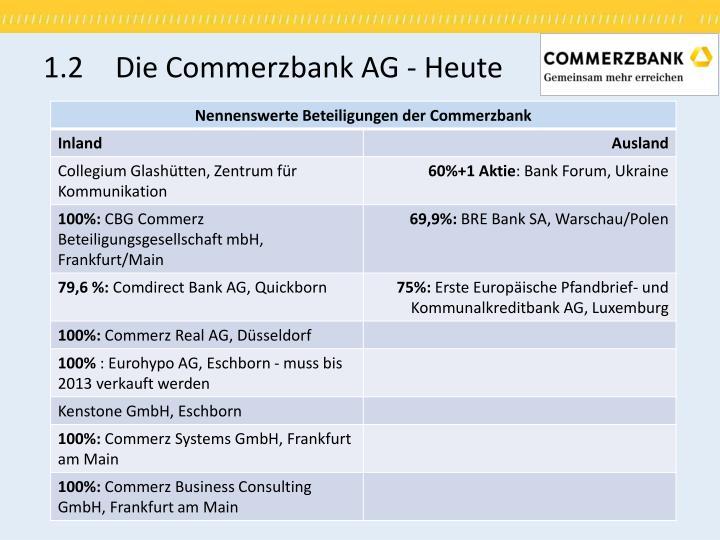 1.2 Die Commerzbank AG - Heute