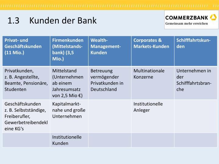 1.3 Kunden der Bank