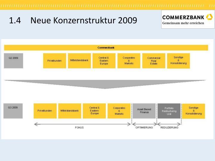 1.4 Neue Konzernstruktur 2009