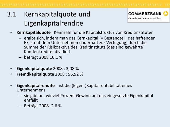 3.1Kernkapitalquote und