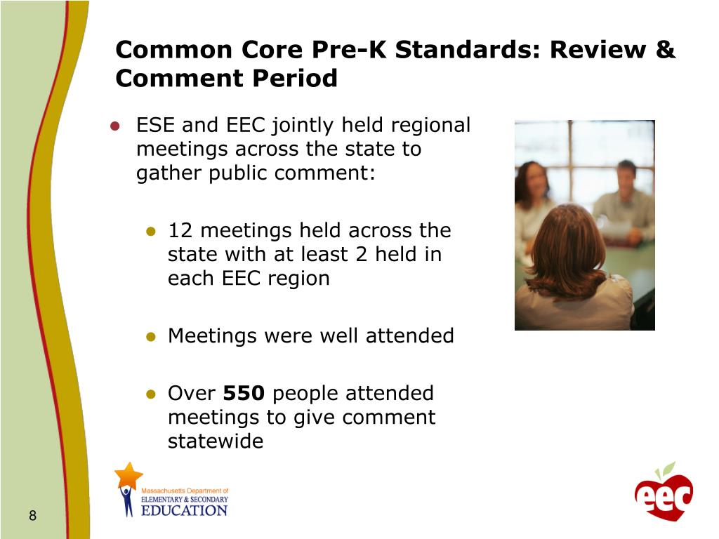 Common Core Pre-K Standards: Review & Comment Period