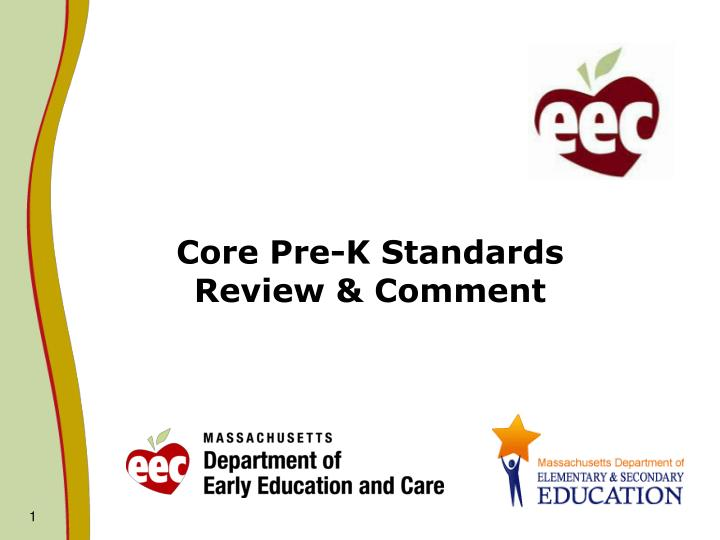 Core pre k standards review comment