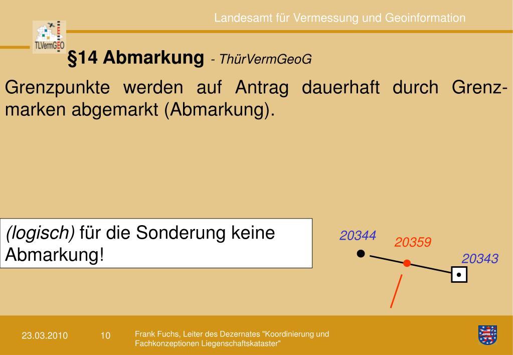 §14 Abmarkung