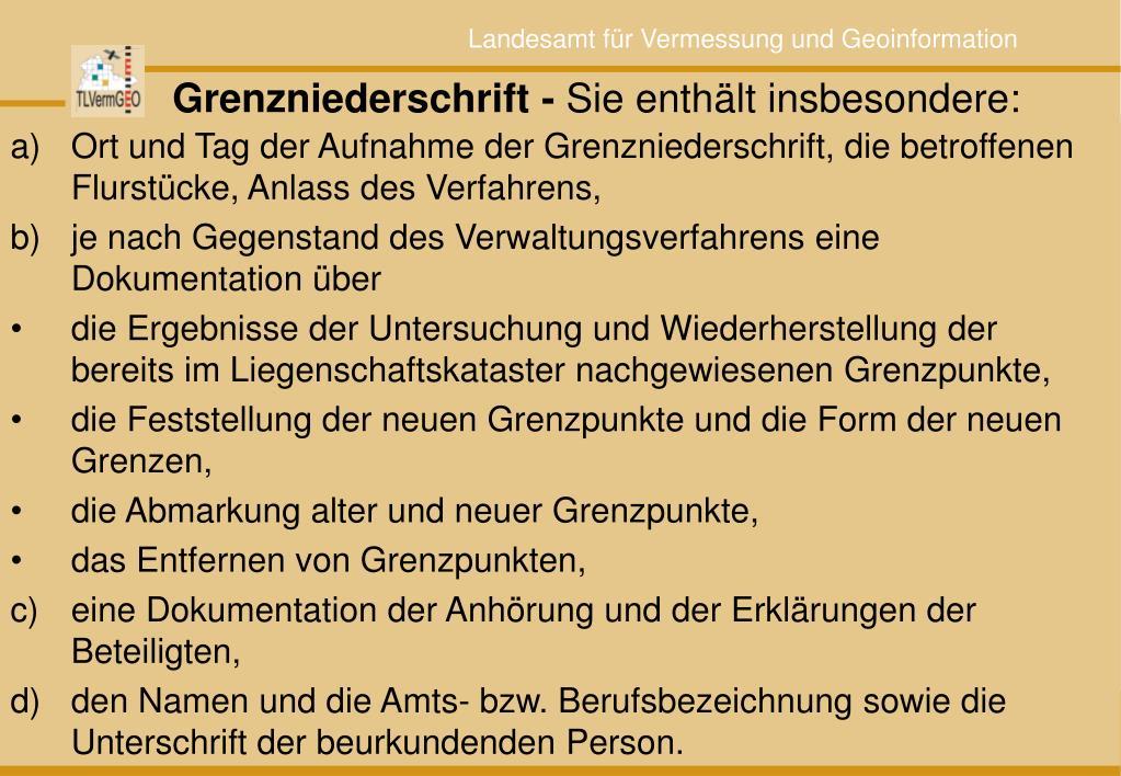 Grenzniederschrift -